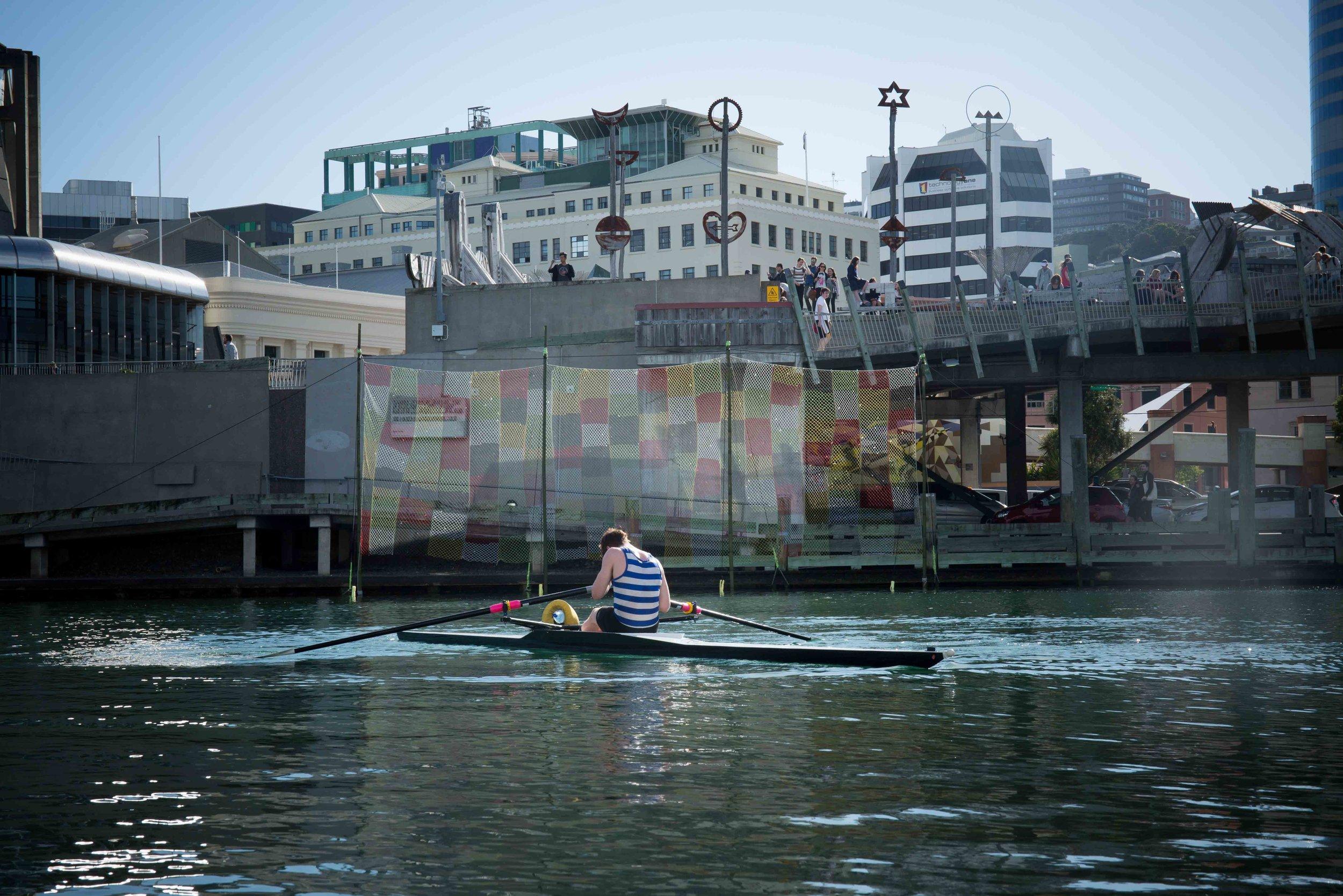 Sora Ami , Yasuaki Igarashi, Shared Lines: Wellington, October 2017. image: Ebony Lamb