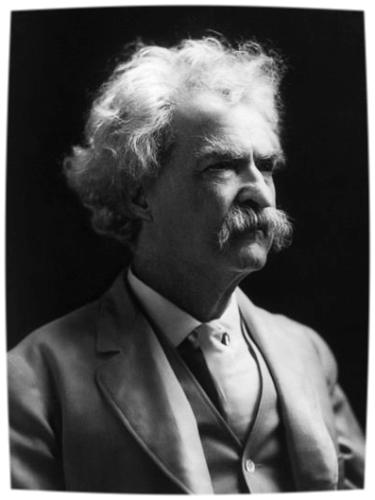 Mark Twain was an avid smoker andmaster riverboat pilot among many other things.