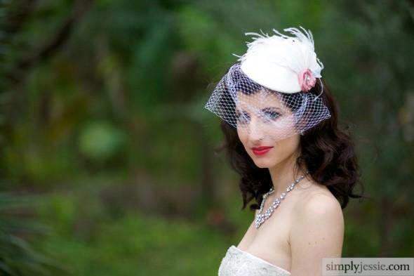 Vintage White Bridal Portrait