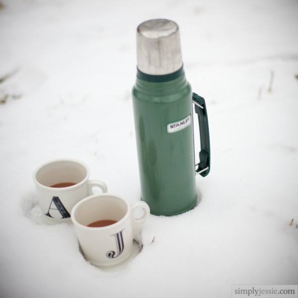 Winter Engagement Thermos & Cups