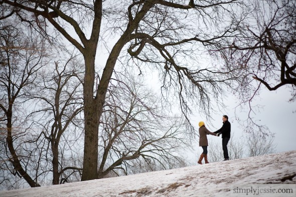 Chicago Winter Engagement Photography