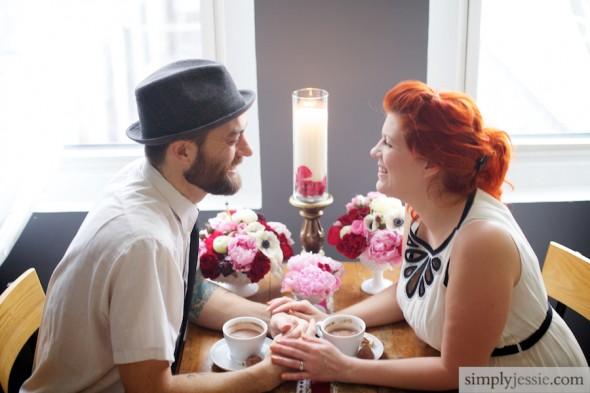 Modern Vintage Chicago Engagement Photography