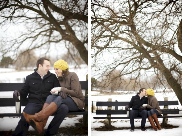 Outdoor Chicago Engagement