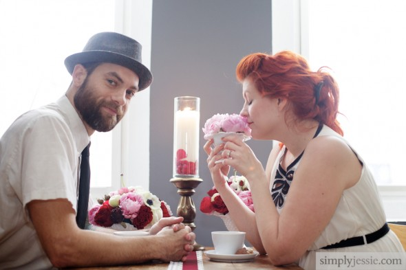 Pink & Red Engagement Shoot