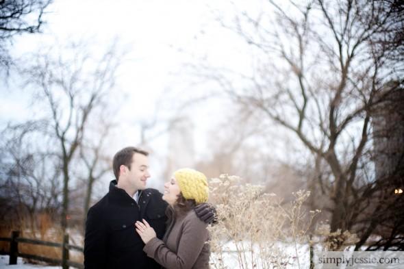 Romantic Winter Engagement Shoot