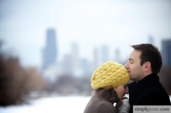 Winter Chicago Skyline Photography
