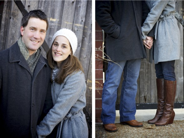 Brown boots engagement photography