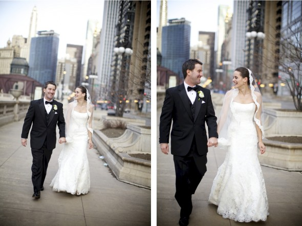 Romantic Downtown Chicago Wedding Photography
