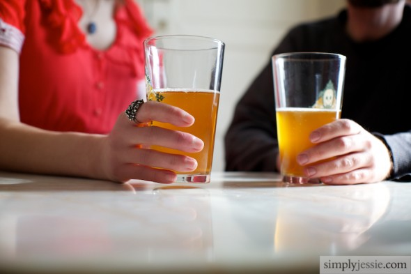 Couple with beer