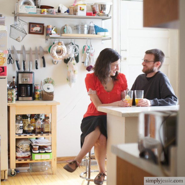 Engagement Photography in Kitchen