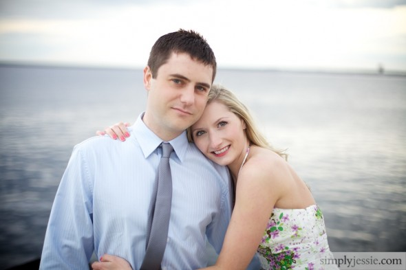 Engagement photography on lake michigan