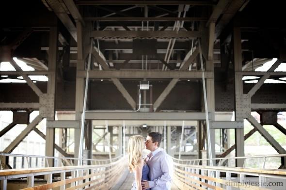 Milwaukee Pedestrian Bridge Engagement Photography