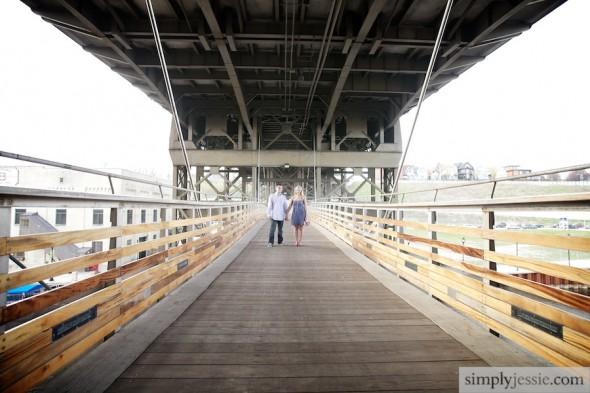 Pedestrian bridge in Milwaukee