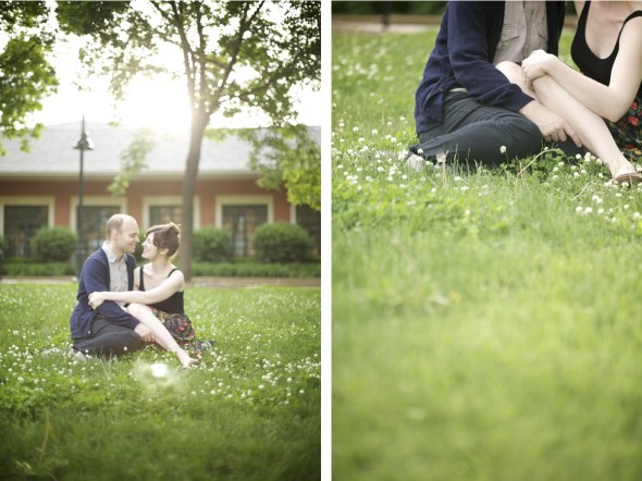 Engagement in Chicago park
