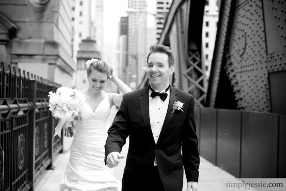 Lasalle Wedding black & white