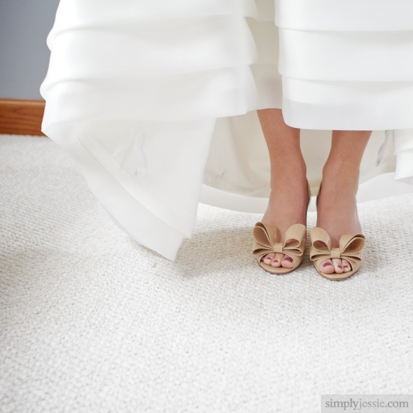 Vintage Valentino Shoes on bride