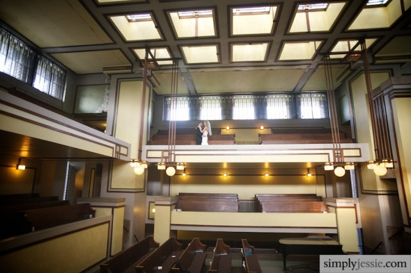 Wedding at Unity Temple in Oak Park