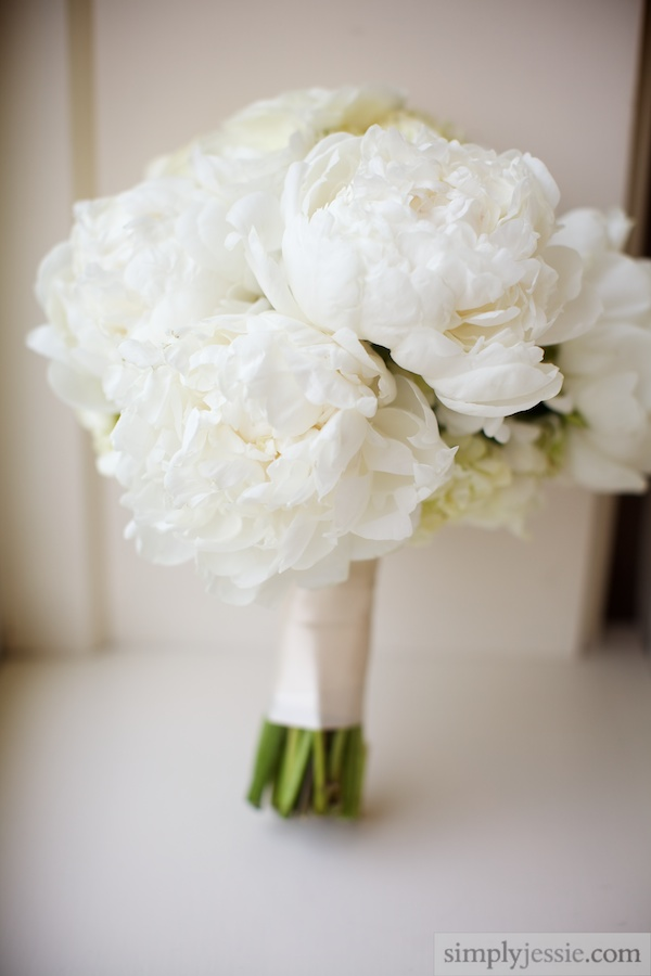White Peony bouquet from Fleur Inc Chicago