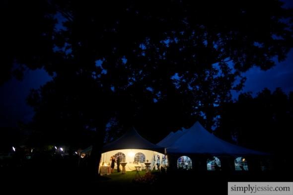 Bloomington Country Club at night