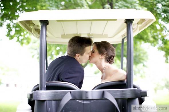 Bride & Groom Bloomington Country Club