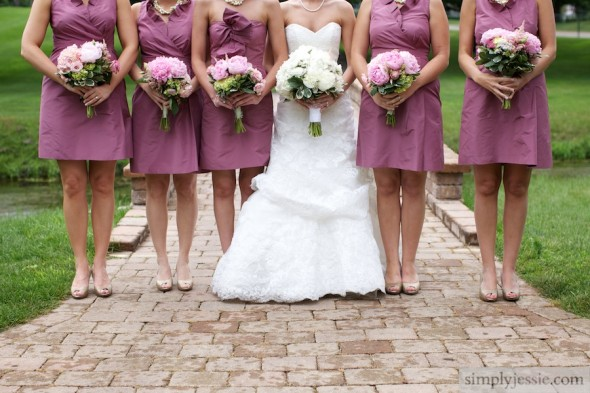 Pink Bridesmaids dresses in Midwest