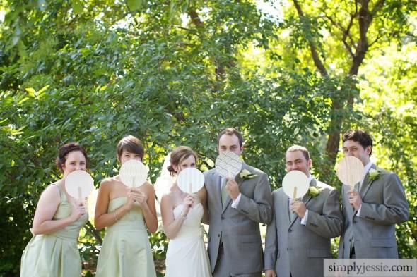 Bridal Party in Morton Arboretum