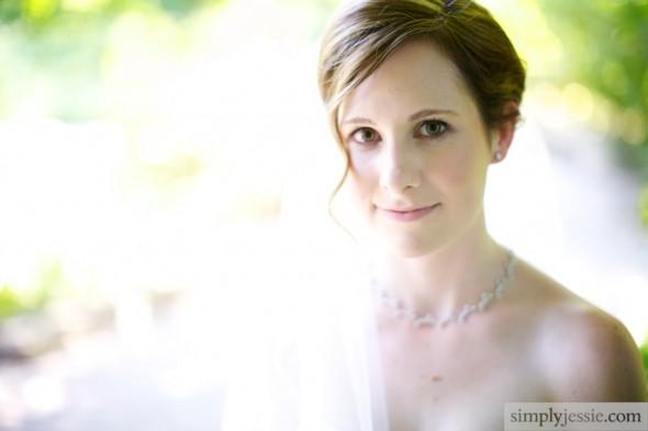 Bride in Garden , Chicago