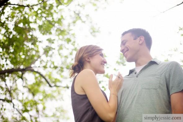 Bright Light Engagement Photography