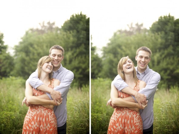 Chicago Prairie Engagement Photography
