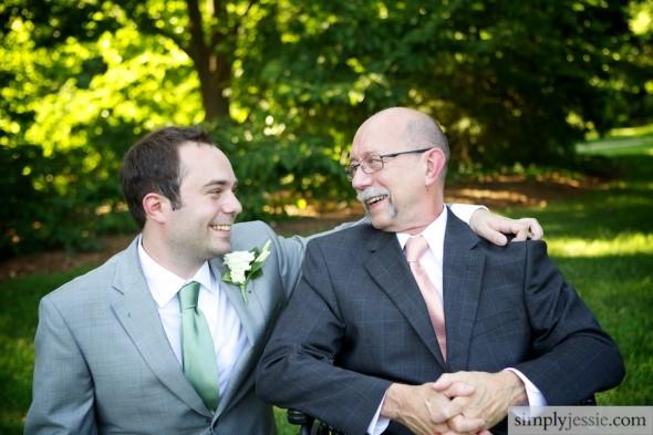 Dad & Groom on wedding day