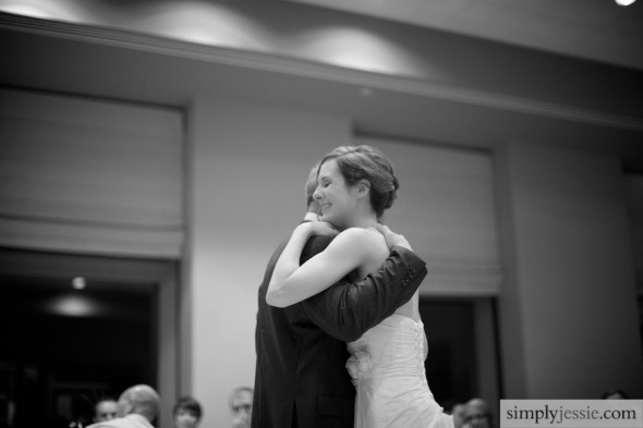 Dance with Dad at wedding reception