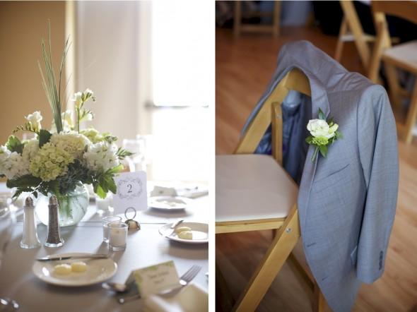 Elegant White Reception Flowers