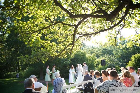 Garden Wedding Ceremony in Chicago