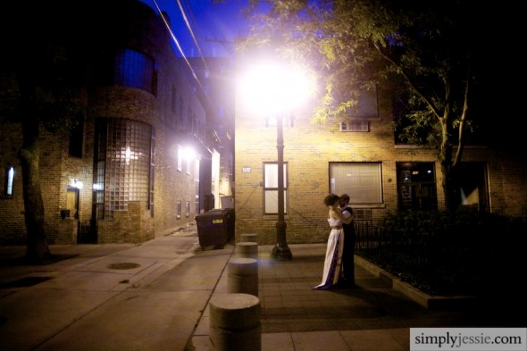Night Wedding Photography in Chicago