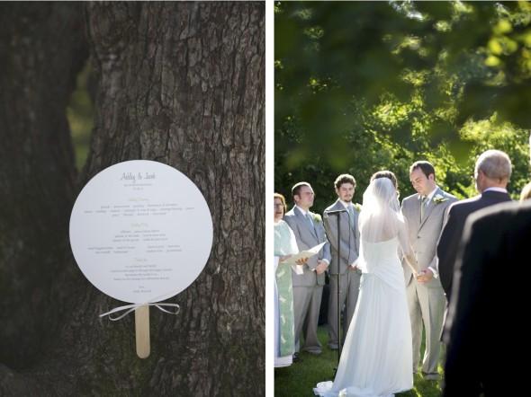 Outdoor wedding ceremony in Chicago