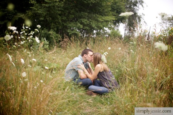 Prairie Midwestern Engagement Photography