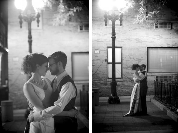 Romantic B&W photos at night