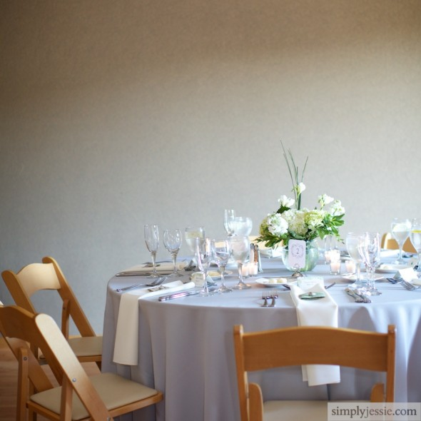 Simple Clean Garden Wedding Reception