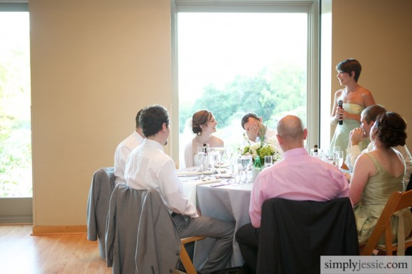 Toasts at wedding reception