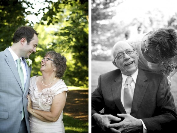 Untraditional Family Photos at wedding