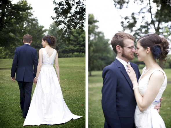 Untraditional outdoor wedding photography