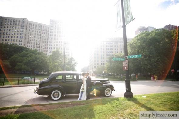 Vintage Car in Lincoln Park