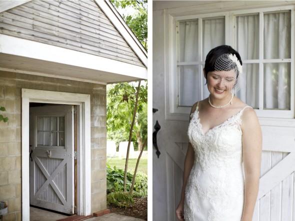 Bride at Blue Dress Farm Wedding