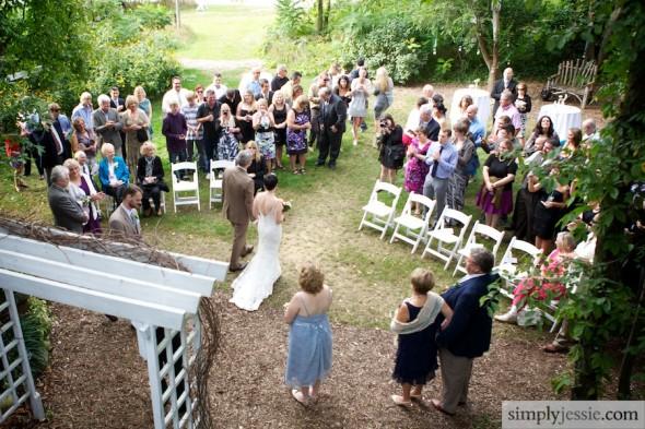 Ceremony at Blue Dress Barn Michigan