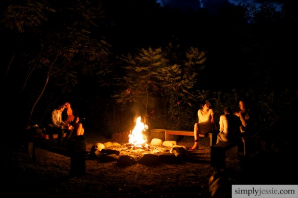 bonfire at wedding in michigan