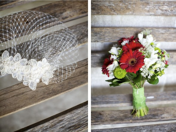 red bridal accessories