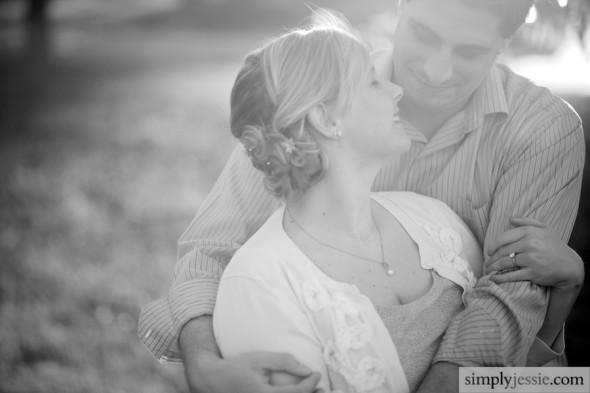 Emotional Black & White Engagement Photography