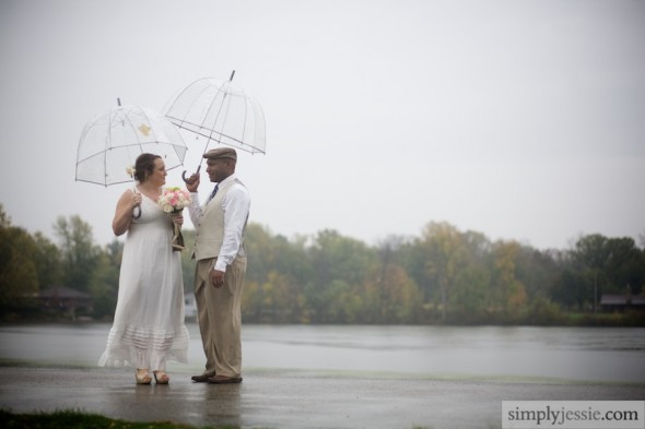 Fall Wedding in the Rain
