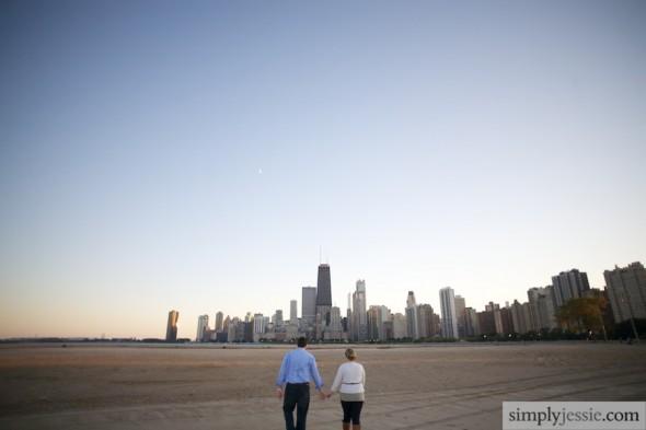 Chicago Skyline Engagement photgoraphy