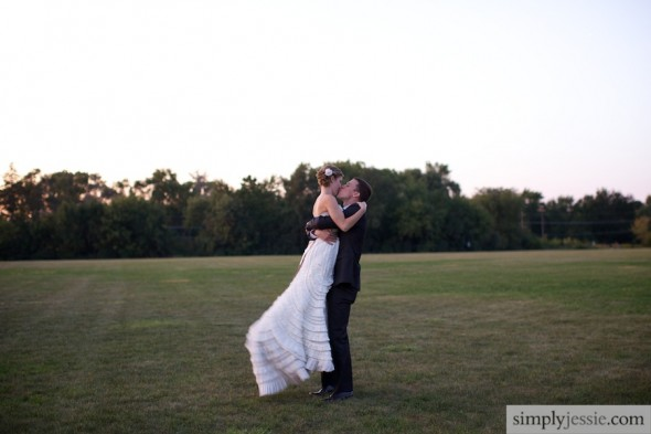 Sunset wedding photography in Barrington IL
